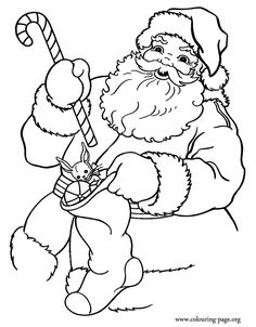It seems that the Santa Claus is already preparing gifts for the Christmas night! Just print this amazing coloring page and have fun!
