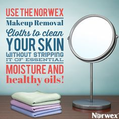 Awesome find. Just water and a makeup removal cloth and all my makeup is gone! Silver is in the cloth, so I use the same cloth for a week. It self-purifies while it dries.  Get One Now. www.MargaretLuckJones.norwex.biz