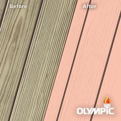 Exterior Wood Stain Colors - Coral White - Wood Stain Colors From OlympicStains.com Exterior Wood Stain Colors, White Wood Stain, Color Names, Red And Pink, Deck, Coral, The Incredibles, Paint