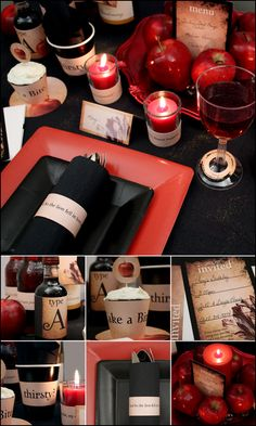 Twilight New Moon Inspired Printable Party Decorations