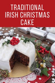 Traditional Irish Christmas Cake: recipe and advice for a perfect Christmas Cake christmas christmascake christmasfood recipe cake 110408628350880394 Irish Christmas Traditions, Irish Traditions, Christmas Cooking, Christmas Recipes, Christmas Cakes, Christmas Potluck, Xmas, Irish Recipes, Irish Desserts