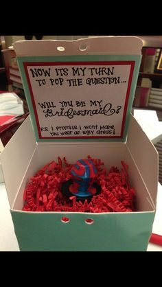 Pop the question- I like the note