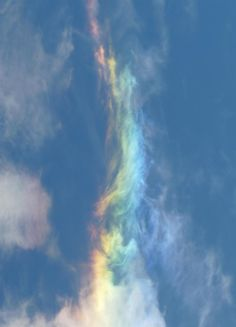 """Fire Rainbows"" are the rarest of all naturally occurring atmospheric phenomena. For a fire rainbow to occur, cirrus clouds must be 20,000 feet in the air with the precise amount of ice crystals, and the sun must hit the clouds at 58 degrees"