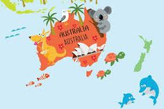Resultado de imagem para australian maps for kids