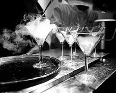 Martinis that are smokin' - with dry ice :-)