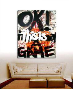 graffiti canvas art Graffiti Canvas Art, Graffiti Artwork, Graffiti Painting, Abstract Canvas Art, Street Art Graffiti, Stencil Graffiti, Office Mural, Office Art, Reverse Graffiti