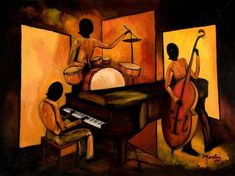 Choose your favorite abstract jazz paintings from millions of available designs. All abstract jazz paintings ship within 48 hours and include a money-back guarantee. Jazz Painting, Fire Painting, Street Painting, African Paintings For Sale, New Orleans Art, Blues, Abstract Art For Sale, Jazz Art, Thing 1