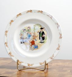Royal Doulton China Bunnykins Plate School Gates by LittleRiverVintage on Etsy