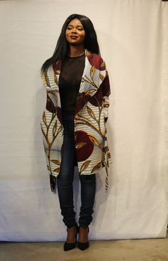 Veste imprimé africain jollie Midi