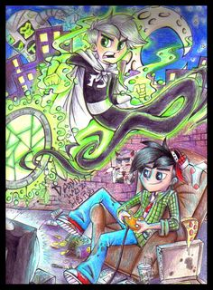 Art Trade: Split Personalities by sharkie19.deviantart.com on @deviantART