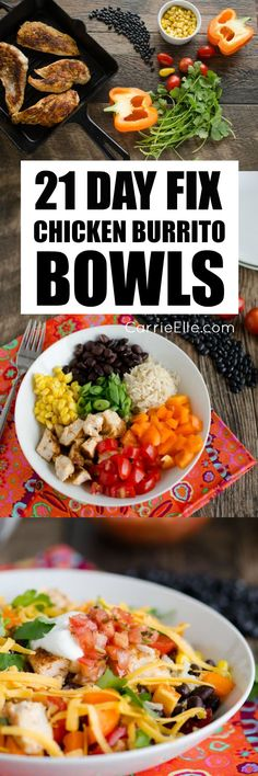 21 Chicken Recipes for your 21 Day Fix - 21 Day Fix Chicken Burrito Bowls beachbody recipes 21 Day Fix Diet, 21 Day Fix Meal Plan, Week Diet, Chicken Burrito Bowl, Burrito Bowls, Chicken Burritos, Clean Eating Recipes, Healthy Eating, Healthy Recipes