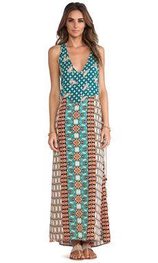 Gypsy 05 Braided Side Maxi Dress in Mandarin