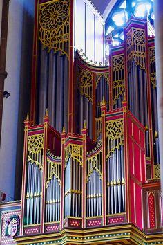 Wandering round Birmingham- St Chad's Cathedral (Pugin)- 1994 Organ Case   Flickr - Photo Sharing!