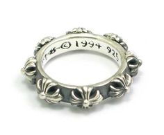 Valuable Ring Ssr251 Bloody Silver Cross New | Chrome Hearts Blue Jewelry Case