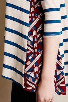 #anthroregistry i feel this could be done with any plain shirt. cut and sew in a funky fabric.