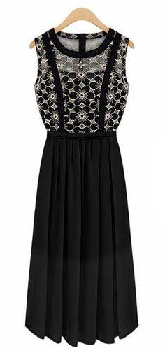 Sleeveless chiffon bohemian dress