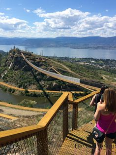 Kelowna Suspension Bridges, could see that scam a long ways away, the ski run, golf coarse and vineyard were all the same run. Things To Do In Kelowna, Places To Travel, Places To See, West Coast Canada, Voyage Canada, Jordan Travel, Canadian Travel, Travel Inspiration, Travel Ideas
