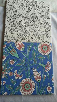 Çini boyaları ve bisküvi malzeme temini için arayabilirsiniz.05324568244 Turkish Design, Turkish Art, Turkish Tiles, Pottery Painting Designs, Paint Designs, China Painting, Ceramic Painting, Blue Pottery, Glazes For Pottery