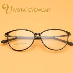 2c34679bf0 IVSTA Cat Eye Glasses Women Trendy Eyeglass Frames Vintage TR90 Nerd Retro  Optical Transparent Eyewear Clear Spectacles grad. FossileFemmes À Lunettes  De ...