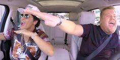 """Bruno Mars foi o convidado de James Corden para o quadro """"Carpool Karaoke"""""""