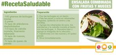 ¿Te gustan las ensaladas? Prepara esta deliciosa ensalada combinada con frutas y nueces, seguro te encantará.