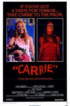 Carrie. Sissy Spacek and John Travolta. 1976