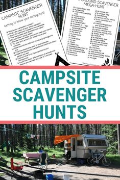 These printable campsite scavenger hunts will keep you and your kids busy at the campground this summer. campground activity ideas for preschoolers and kids Camping With Kids, Family Camping, Tent Camping, Camping Gear, Outdoor Camping, Hiking Gear, Camping Style, Outdoor Fun, Camping Storage