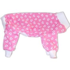Mini Hearts Dog Pajamas (XXS)