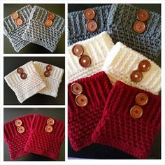Set+of+3+Women's+Crochet+Boot+Cuffs+Boot+Toppers+by+QuiltNCrochet