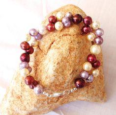 Multi Colour Shell Pearl Bracelet Handmade Jewelry