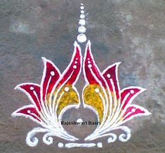 Latest Rangoli Designs for Diwali Browse over Ideas & Images on rangoli design for Diwali festival. Diwali is never complete without rangoli colours. Indian Rangoli Designs, Rangoli Designs Latest, Simple Rangoli Designs Images, Rangoli Designs Flower, Rangoli Border Designs, Rangoli Patterns, Rangoli Ideas, Rangoli Designs With Dots, Beautiful Rangoli Designs