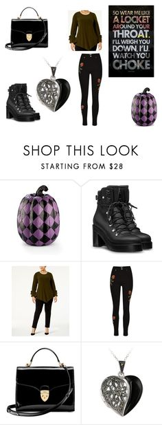 """Untitled #580"" by the-killer-of-dreams ❤ liked on Polyvore featuring Improvements, Alfani, Aspinal of London, Glitzy Rocks and plus size clothing"