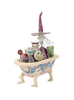 The Nightmare Before Christmas Lock Shock & Barrel Tub Figurine,