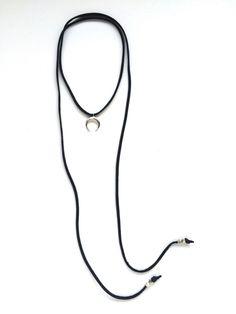 Double Horn Choker Wrap Necklace
