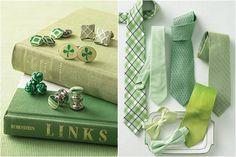 green vintage books, Irish green cufflinks, green ties, green bowties, green wedding ideas
