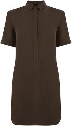 Womens dark brown shirt dress from Warehouse - £38 at ClothingByColour.com