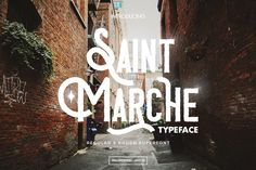 Saint Marche Typeface is handmade classic vintage mixed up with modern touch display typeface. See classy vintage and modern typography with Regular and Rough style. Suitable for logo, letterhead, posters, shirt, flyer, or any design requirements.
