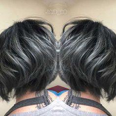 10.Short Grey Hairstyle