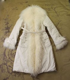 SALCO WOMENS MONGOLIAN LAMB CURLY FUR LONG BELT PARKA WINTER COAT 42 M 6 8 $1695 #Salco #Parka #fur #mongolian