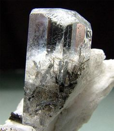 Aquamarine With Schorl Inclusions - Shigar Valley, Northern Areas, Pakistan