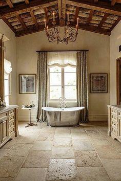 Know the 9 Best Bathroom Flooring Options for Your Home Die Wahl des Badezimmerbodens [simple decora Stone Flooring, Interactive Kitchen Design, Small Bathroom Decor, Travertine Floors Bathroom, Amazing Bathrooms, Bathroom Flooring Options, Best Bathroom Flooring, Flooring Options, Bathroom Design