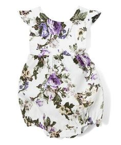 Look at this #zulilyfind! Lavender Floral Cross-Back Bubble Romper - Infant & Toddler #zulilyfinds