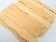 100 Wavy Wooden Fan Handes, Outdoor Wedding, Outdoor Wedding Program, DIY Wedding, Fan Sticks. $14.00, via Etsy.