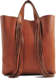 VANESSA BRUNO Large Fringed Tote