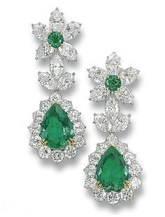 RosamariaGFrangini   My Greem Jewellery   TJS   Emerald and Diamond Earrings