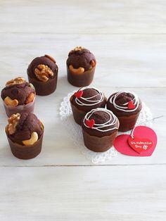 「チョコマフィン★バレンタインにも♪」みら | お菓子・パンのレシピや作り方【cotta*コッタ】 Sweets Recipes, Cake Recipes, Cooking Recipes, Desserts, Chocolate Sweets, Chocolate Recipes, Homemade Sweets, Ice Cream Candy, Cake Photography