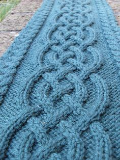Celtic Cable Scarf By Vanessa Lewis - Free Knitted Pattern - See http://www.kraemeryarns.com/patterns/pdfs/20.pdf For PDF Pattern - (ravelry)