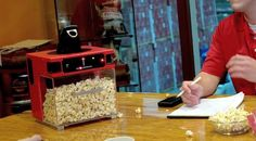 Meet The Popinator - Popcorn Machine pops the corn right into your mouth.
