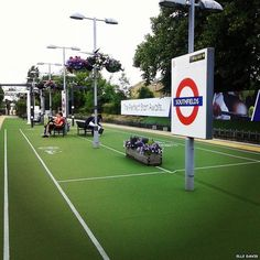 Southfields Tube station - the station for Wimbledon tennis