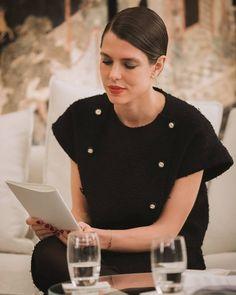 Charlotte Casiraghi, Princess Caroline, Chanel, Monaco, Beautiful Dresses, Chef Jackets, Photo And Video, Instagram, Rue